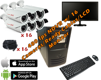 Complete PC Based 480fps 16 Camera NDVR Systems
