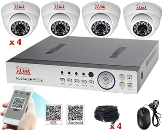 Complete Standalone Real Time 4 Port SNDVR System