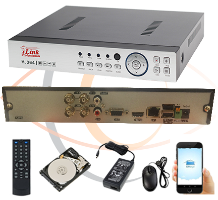 4 Channel Security DVR/NVR/XVR
