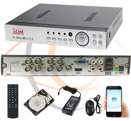 8 Channel Security DVR/NVR/XVR