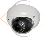 5MP IP Indoor/Outdoor Infrared Vandal Dome Security Camera with 3.5~10mm Varifocal Lens