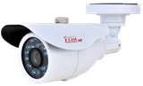 HD 720P White Bullet CCTV Security Coax Camera / 2000 + TVL Analog Infrared Indoor/Outdoor Color D/N