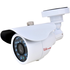 HD 1080P White Bullet CCTV Security Coax Camera AHD +TVI+CVI+ / 2000 + TVL Analog Infrared Indoor/Outdoor Color D/N
