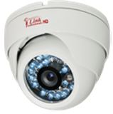 HD 720P White Dome CCTV Security Coax Camera / 2000 + TVL Analog Infrared Indoor/Outdoor Color D/N