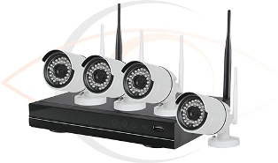 Complete CCTV HD 4 Port Wireless Surveillance System w/ Four Wireless 2MP Cameras