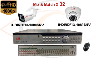 CCTV HD Security Camera System 5-in-1 1080p Standalone 32 Port DVR w/ 1080p HD Coax Cameras
