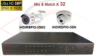 Complete CCTV HD Security Camera System 5-in-1 5MP Standalone 32 Port H.264 DVR w/ 5MP HD Coax Cameras