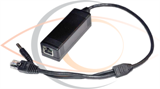 DC 12V Single Ethernet Port 10/100M PoE Splitter Cable