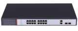 16 Port 10/100 Mbps with PoE + 2 Gigabit Uplink/DVR Port Ethernet Switch