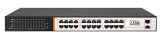 24 Port 10/100/1000 Mbps with PoE + 2 Gigabit Uplink/DVR Port Ethernet Switch